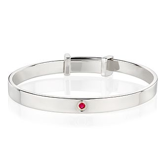 Molly Brown July Ruby Christening Bangle - Product number 9542078