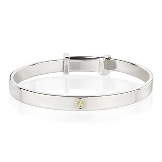 Molly Brown August Peridot Christening Bangle - Product number 9542086