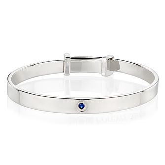Molly Brown September Sapphire Christening Bangle - Product number 9542094