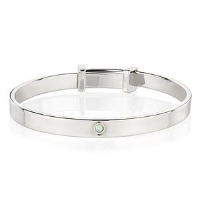 Molly Brown October Opal Christening Bangle - Product number 9542108