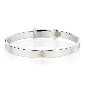 Molly Brown November Citrine Christening Bangle - Product number 9542116