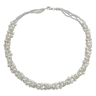 Silver Freshwater Pearl Bead Wrap 18 inches Necklace - Product number 9544194