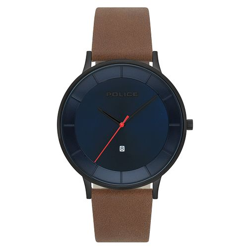 Police Fontanna Men's Dark Brown Strap Watch - Product number 9547460