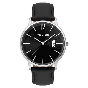 Police Virtue  Men's Black Strap Watch - Product number 9547665