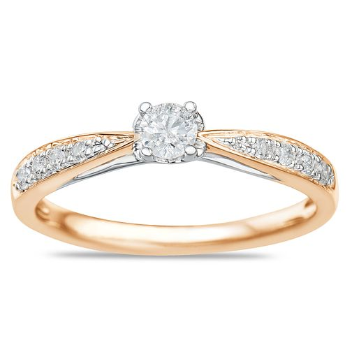 9ct Rose Gold 1/4ct Diamond Solitaire Ring - Product number 9549676