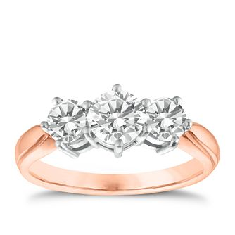 18ct Rose Gold 1.5ct Diamond Ring - Product number 9551611
