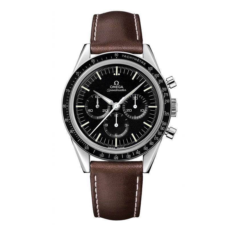 Omega Speedmaster Moonwatch Men's Brown Leather Strap Watch - Product number 9552200