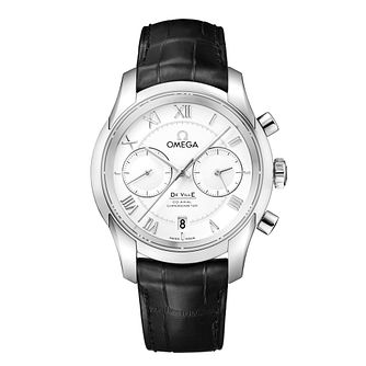 Omega De Ville Men's Co-Axial black leather strap watch - Product number 9552278