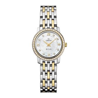 Omega De Ville Ladies Two Colour Diamond Bracelet Watch - Product number 9561331