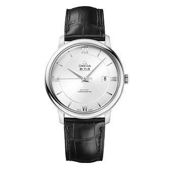 Omega De Ville Men's Black Leather Strap Watch - Product number 9561439