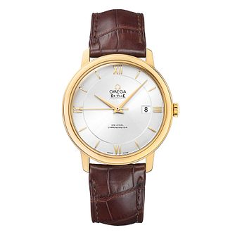 Omega De Ville Men's 18ct Yellow Gold Leather Strap Watch - Product number 9561455