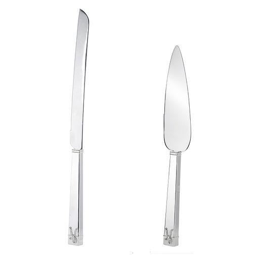 Vera Wang Love Knot cake knife and server - Product number 9571515