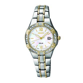 895fbffee Seiko Solar Ladies' Diamond Set Two Colour Bracelet Watch - Product number  9573240