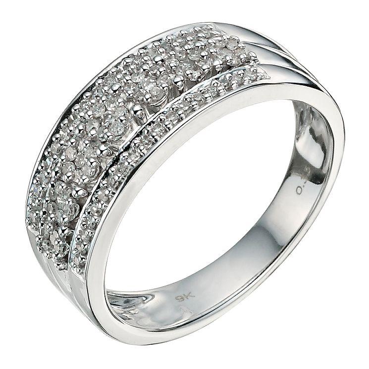 9ct White Gold 1 3 Carat Diamond Eternity Ring
