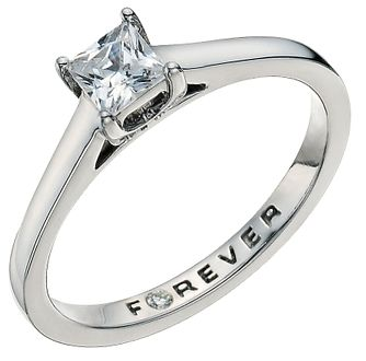 The Forever Diamond Palladium 0.37ct Ring - Product number 9592806