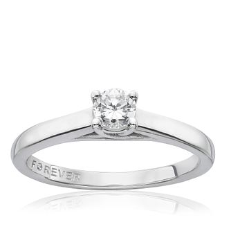 9ct White Gold 1/4 Carat Forever Diamond Ring - Product number 9594310