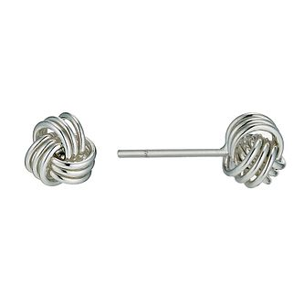 Silver 5mm Knot Stud Earrings - Product number 9595791