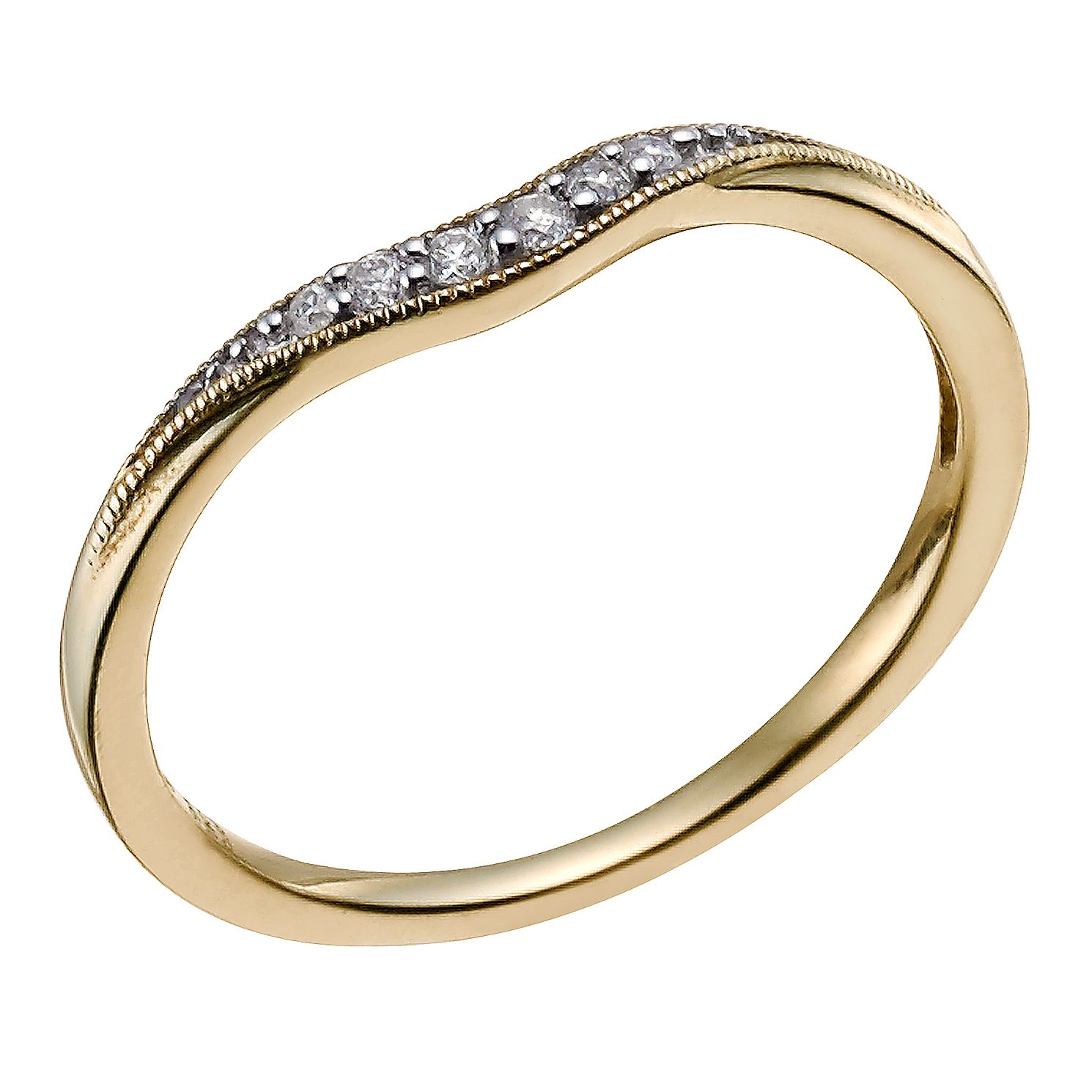 9ct Yellow Gold Diamond Shaped Band - Product number 9596275