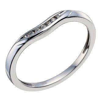 Platinum & Diamond Shaped Band - Product number 9597522