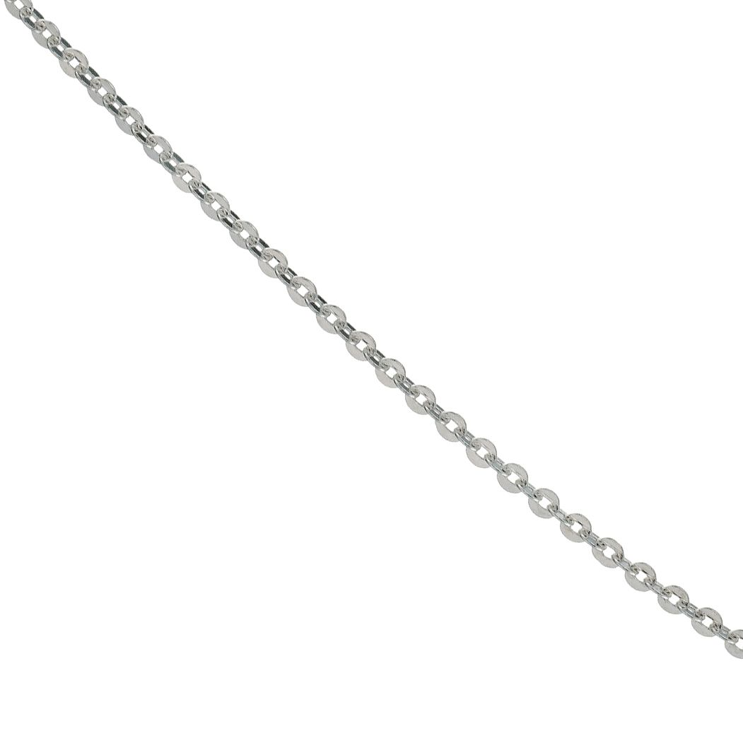 Silver Light Belcher Chain Necklace 18