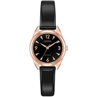 Citizen Mini Ladies' Black Vegan Leather Strap Watch - Product number 9600426
