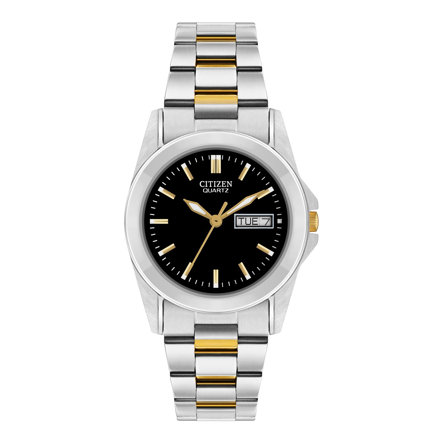 Citizen Ladies Quartz Stainless Steel Black Dial Watch - Product number 9600442