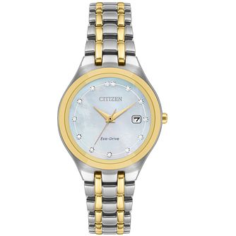 Citizen Silhouette Diamond Ladies' Eco-Drive Bracelet Watch - Product number 9600493