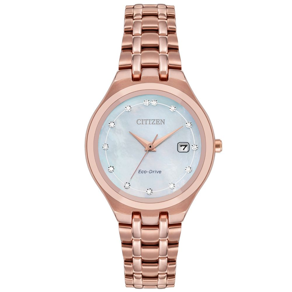 Citizen Silhouette Ladies' Rose Gold Tone Bracelet Watch - Product number 9600523