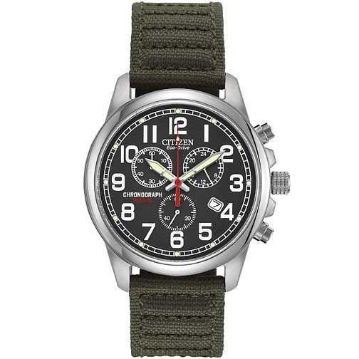 Citizen Men's Military Eco-Drive Chronograph Strap Watch - Product number 9600582