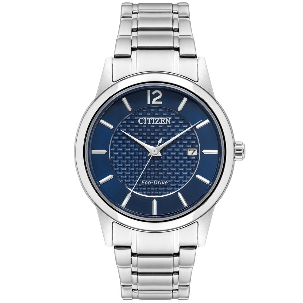 Citizen Eco-Drive Men's Stainless Steel Blue Dial Watch - Product number 9600698