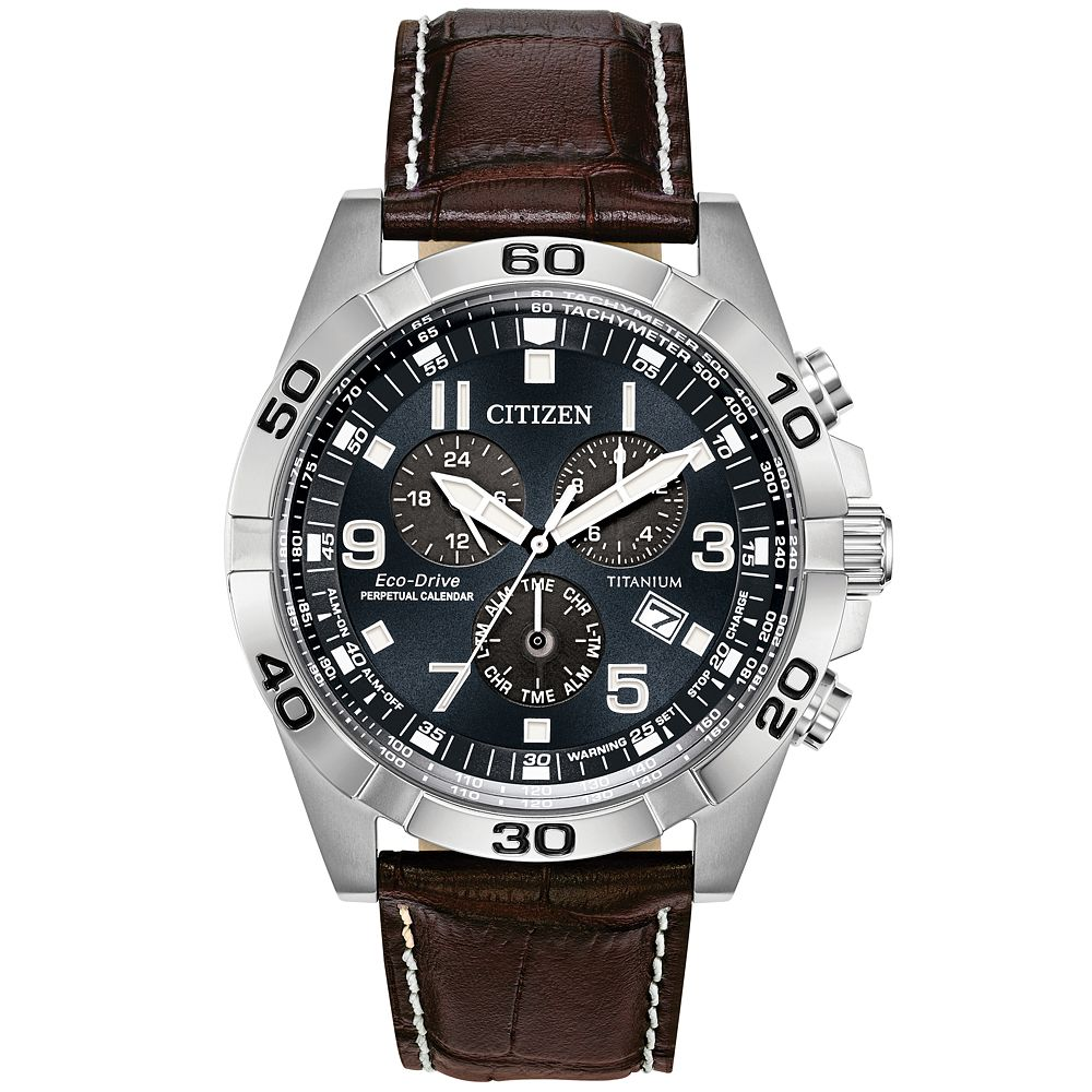 Citizen Men's Eco-Drive Perpetual Calendar Strap Watch - Product number 9602011