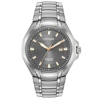 Citizen Eco-Drive Paradigm Men's Titanium Bracelet Watch - Product number 9602356