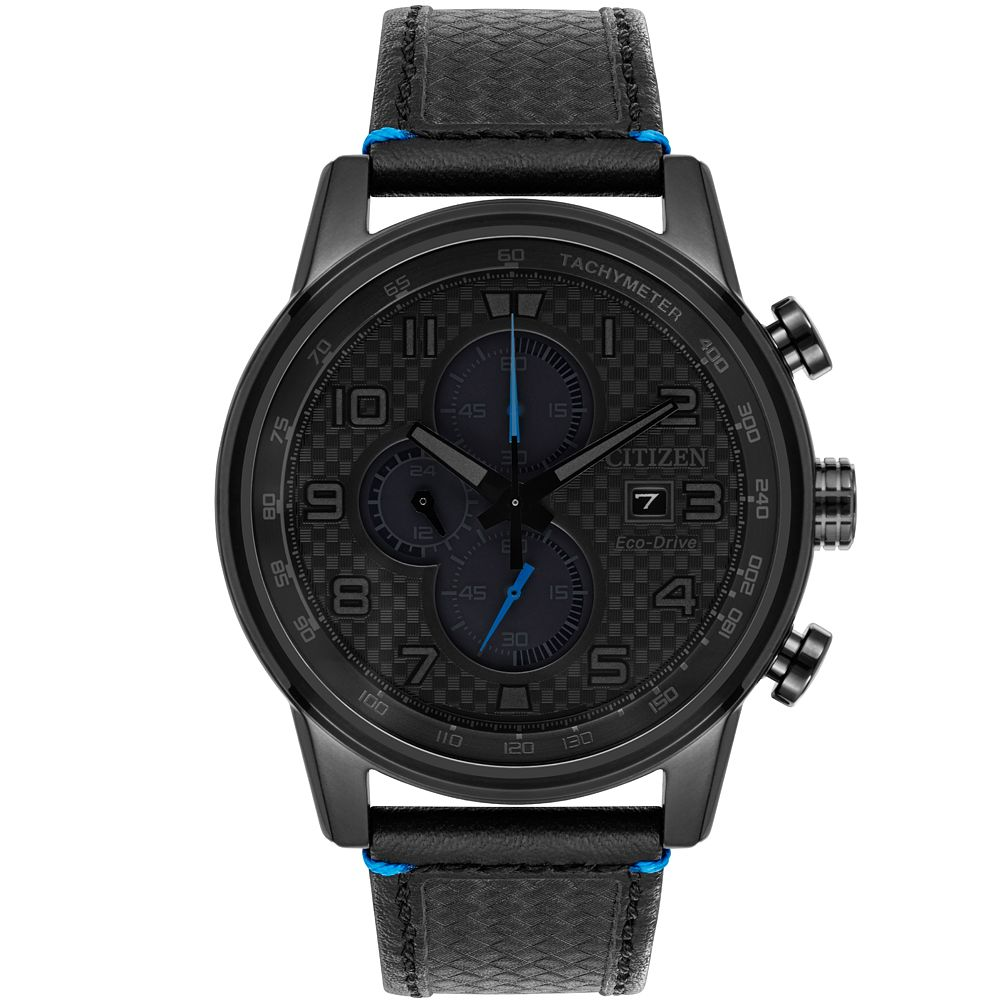 Citizen Primo Men's Chronograph Black Leather Strap Watch - Product number 9602666