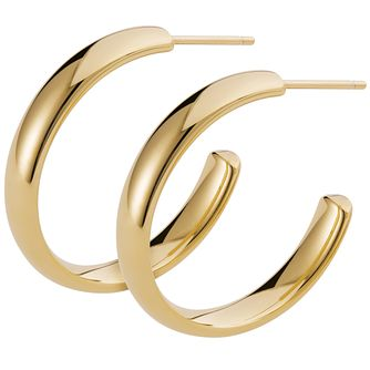 Inara Ceramic Yellow Gold Plated C-Hoop Earrings - Product number 9603956