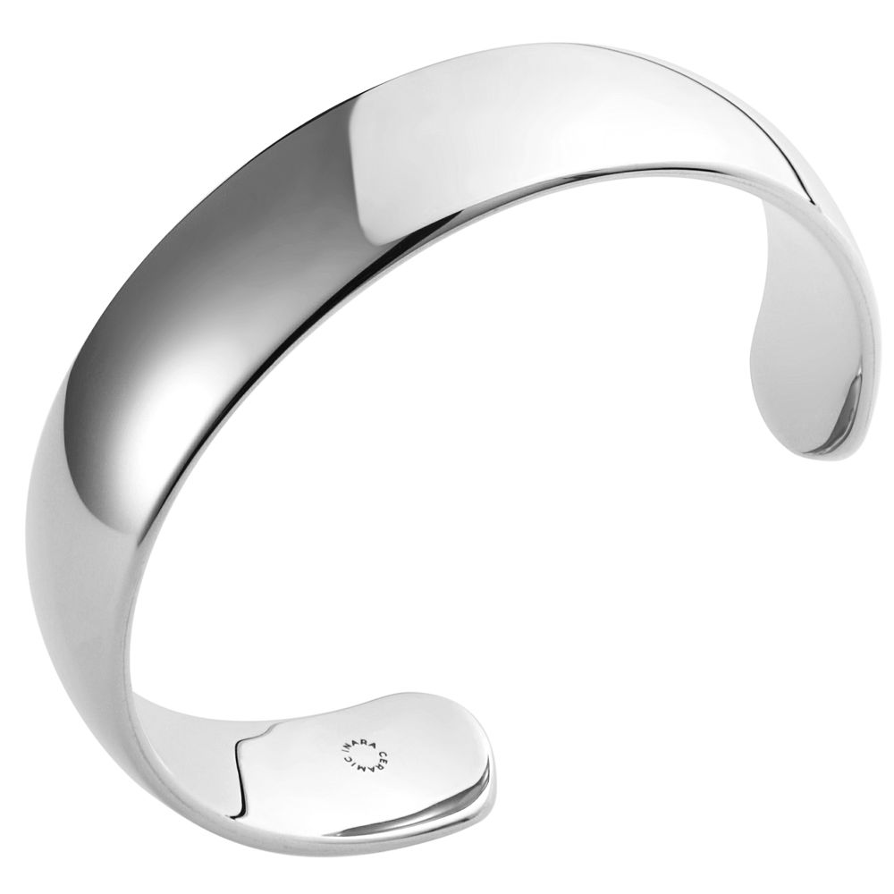 Inara Ceramic Rhodium Plated Cuff Bangle - Product number 9604405