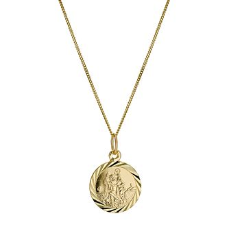 Children's 9ct Yellow Gold St.Christopher's Pendant - Product number 9609725