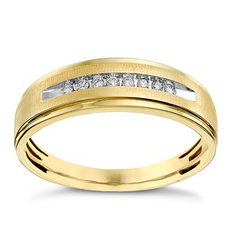 9ct Yellow Gold Channel Set 0.10ct Diamond Ring - Product number 9619631