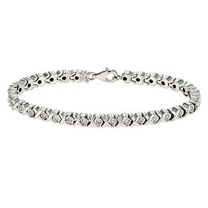 Sterling silver 0.50ct diamond tennis bracelet - Product number 9621245