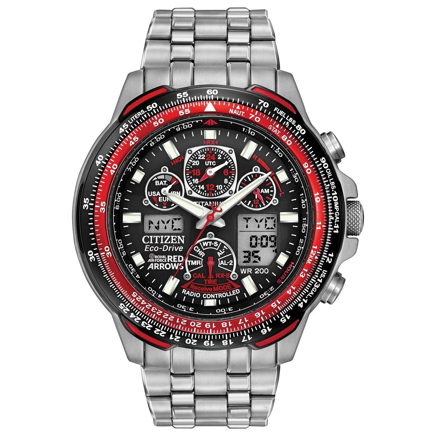 Citizen Eco-Drive Red Arrows Skyhawk Titanium Bracelet Watch - Product number 9621849
