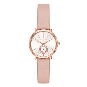 457c568f9e45 Michael Kors Rose Gold Tone Mini Portia Watch - Product number 9626867