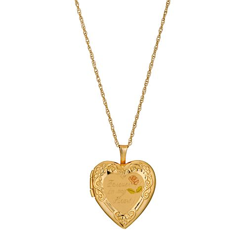 "Rolled Gold 'Forever In My Heart' Locket 18"" - Product number 9629491"