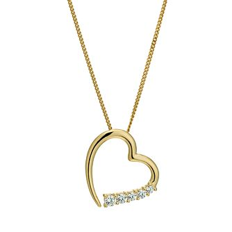 Silver & 18ct Gold Plated Swarovski Zirconia Pendant - Product number 9629823