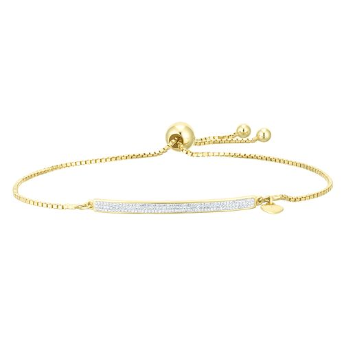 Evoke Silver & Yellow Gold Plated  Crystal Bar Bracelet - Product number 9642412