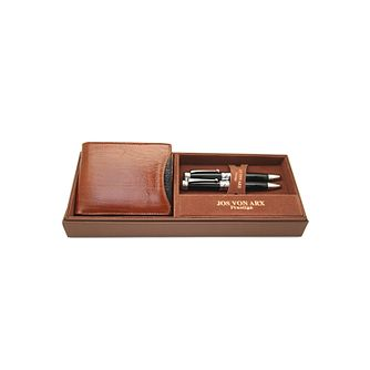 Jos Von Arx Men's Leather Wallet & 2 Pen Gift Set - Product number 9642978