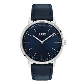 Hugo Blue Leather Blue Dial Strap Watch - Product number 9646930