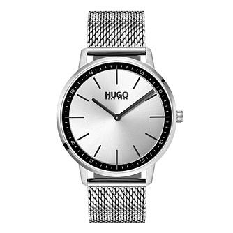 Hugo Exist Men's Stainless Steel Mesh Bracelet Watch - Product number 9647317
