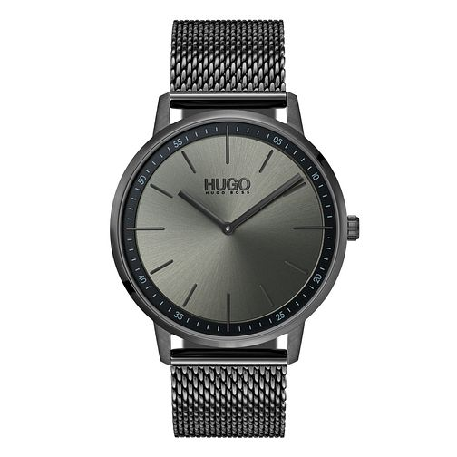 Hugo Grey IP Grey Dial Bracelet Watch - Product number 9647333