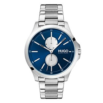 Hugo Blue Dial Silver Stainless Steel - Product number 9647465