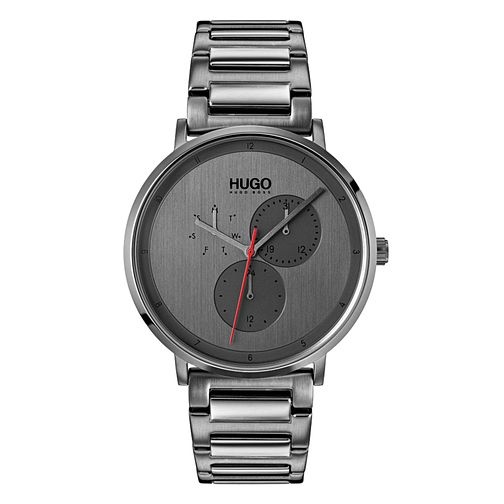 Hugo Guide Men's Grey IP Stainless Steel Bracelet Watch - Product number 9647546