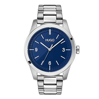 Hugo Blue Dial Silver Bracelet Watch - Product number 9647570